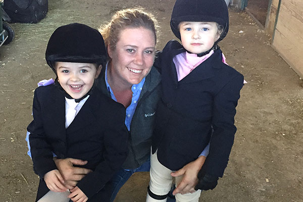 Hunter Jumper Students with Trainer